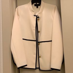 NWT Jcrew Collarless piped jacket
